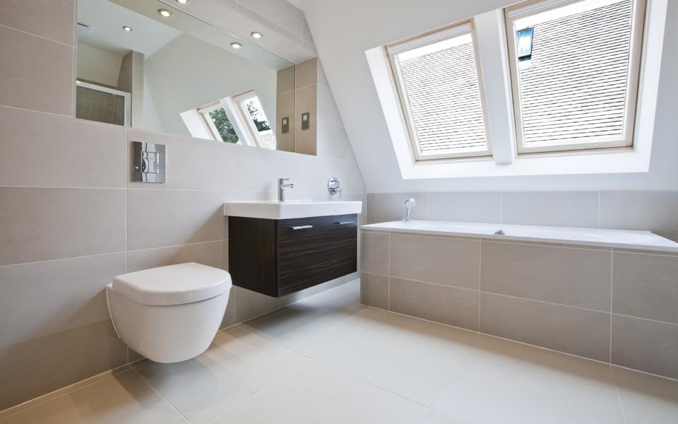 Mijn badkamer studio picobello - Moderne badkamer tegelvloeren ...